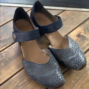 Navy Blue Rieker Mirjam 11 Pumps Heels Shoes